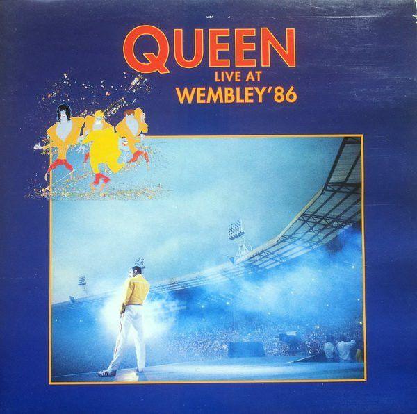 Portada original del álbum Live At Wembley '86, lanzado en 1992.
