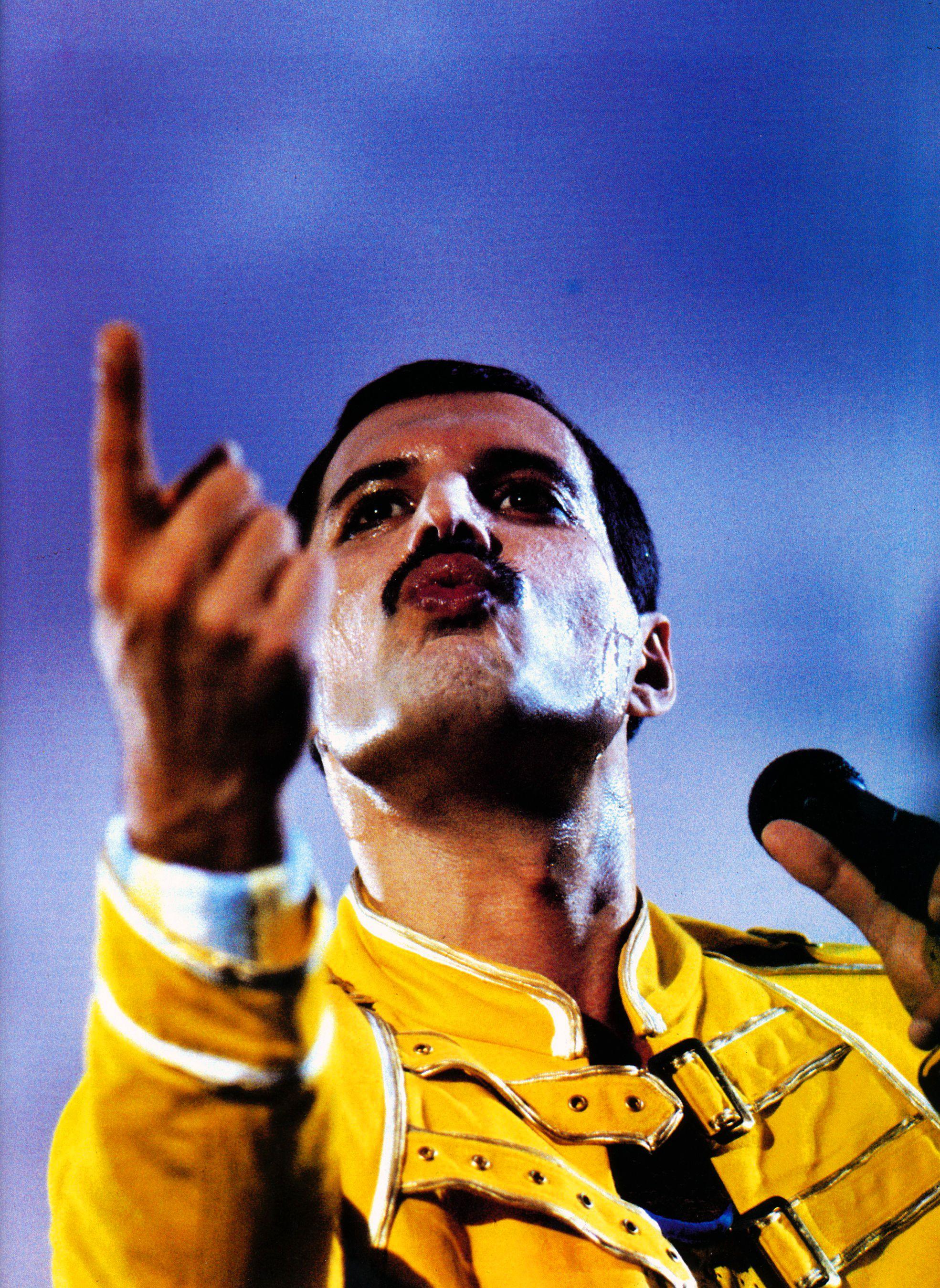 Freddie Mercury en Knebworth Park