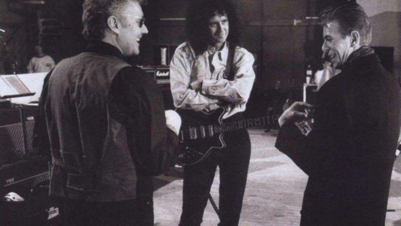 Roger Taylor Brian May David Bowie
